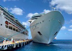 Cruise ship next to dock