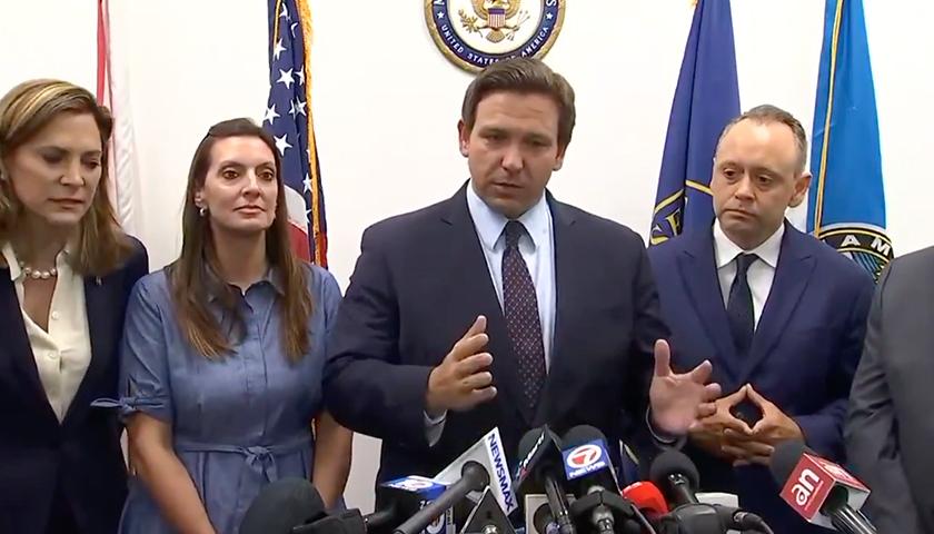 Gov. Ron Desantis making remarks on behalf of the Cuban protests